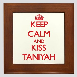 Keep Calm and Kiss Taniyah Framed Tile