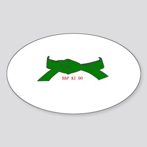 Hapkido Rank Belt Oval Sticker