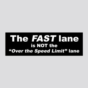 The Fast Lane 36X11 Wall Decal