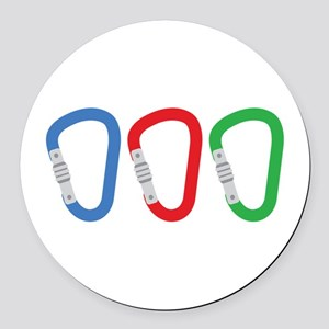 Carabiners Round Car Magnet
