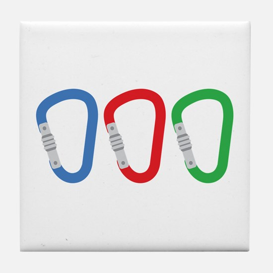 Carabiners Tile Coaster