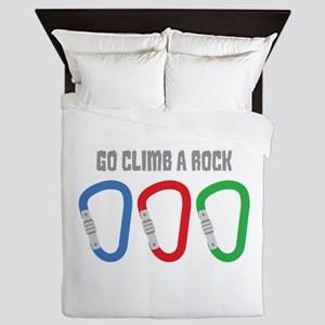 GO CLIMB A ROCK Queen Duvet