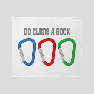 GO CLIMB A ROCK Throw Blanket