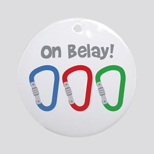 On Belay! Ornament (Round)