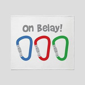 On Belay! Throw Blanket