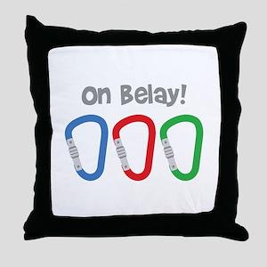 On Belay! Throw Pillow