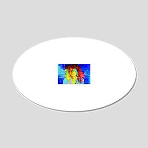 Lord Buddha 20x12 Oval Wall Decal