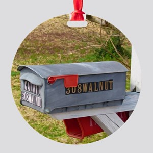 Rural mail boxes Round Ornament