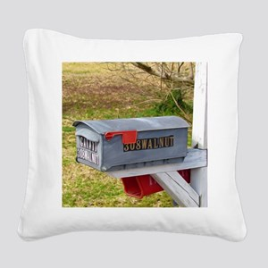 Rural mail boxes Square Canvas Pillow