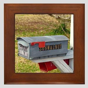 Rural mail boxes Framed Tile
