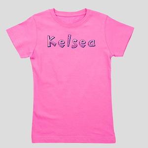 Kelsea Pink Giraffe Girl's Tee