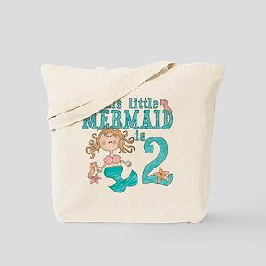 Mermaid 2nd Birthday Tote Bag