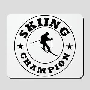 Skiing Champion Mousepad