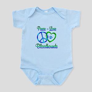 Peace Love Bloodhounds Infant Bodysuit