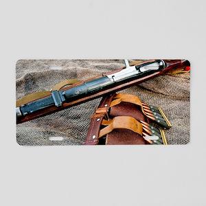 Vintage Rifle Aluminum License Plate