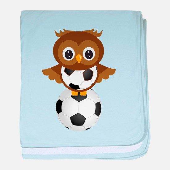 Soccer Owl baby blanket