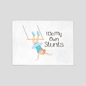 I Do My Own Stunts 5'x7'Area Rug