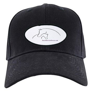 Mare and Foal Save Americas Horses Baseball Cap
