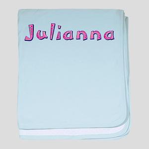 Julianna Pink Giraffe baby blanket