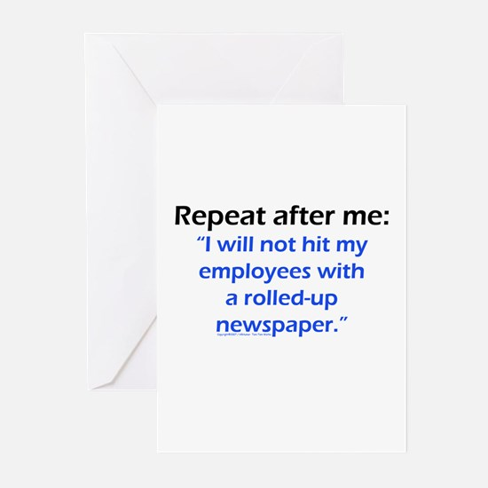 Funny Management Greeting Cards (Pk of 10)