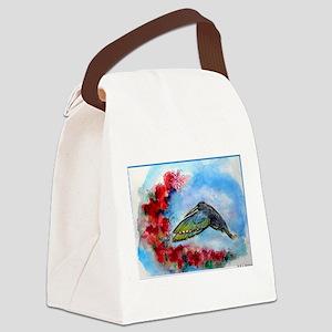 Hummingbird, bird art Canvas Lunch Bag