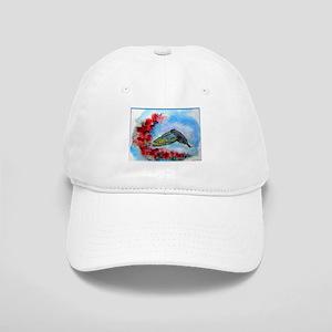Hummingbird, bird art Baseball Cap