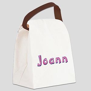 Joann Pink Giraffe Canvas Lunch Bag