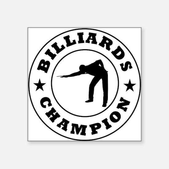 Billiards Champion Sticker