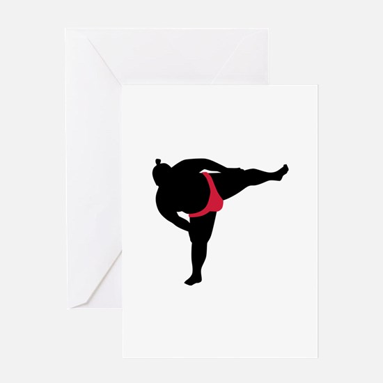 Sumo wrestling sports Greeting Card