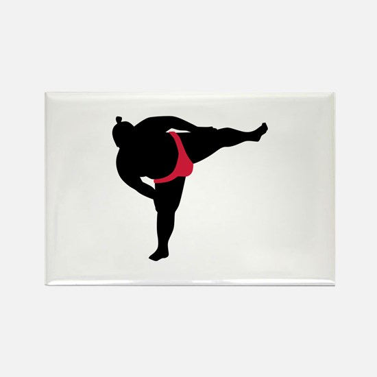 Sumo wrestling sports Rectangle Magnet