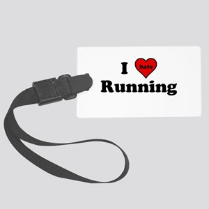 I Heart (hate) Running Luggage Tag