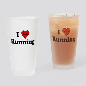I Heart (hate) Running Drinking Glass