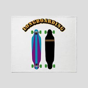 Longboard - Longboarding Throw Blanket