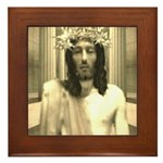 The Trial Of Jesus Framed Tile