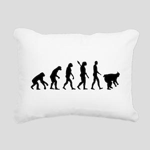 Evolution sumo wrestling Rectangular Canvas Pillow