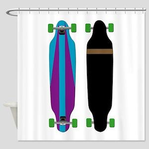 Longboard - Longboarding - No Txt Shower Curtain