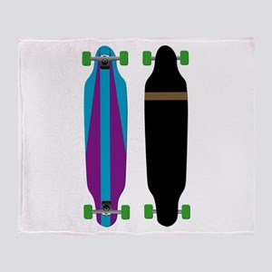Longboard - Longboarding - No Txt Throw Blanket