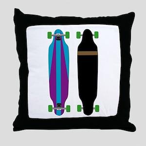 Longboard - Longboarding - No Txt Throw Pillow