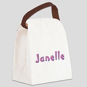 Janelle Pink Giraffe Canvas Lunch Bag