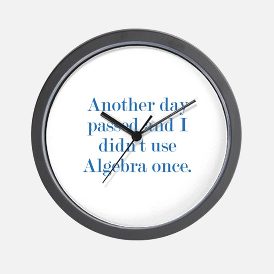 Another Day Passed Wall Clock