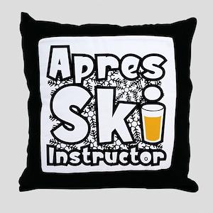 Apres Ski Instructor Throw Pillow