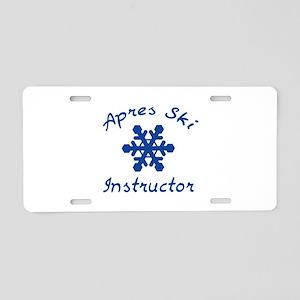 Apres Ski Instructor Aluminum License Plate