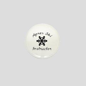 Apres Ski Instructor Mini Button