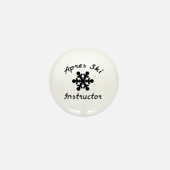 Apres Ski Instructor Mini Button