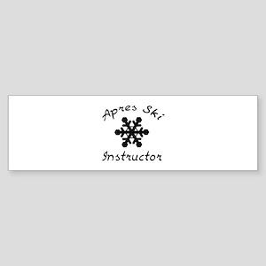 Apres Ski Instructor Sticker (Bumper)