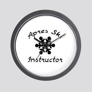 Apres Ski Instructor Wall Clock