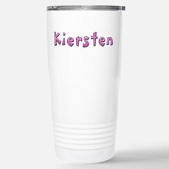 Kiersten Pink Giraffe Stainless Steel Travel Mug