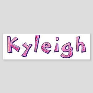 Kyleigh Pink Giraffe Bumper Sticker