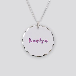 Kaelyn Pink Giraffe Necklace Circle Charm