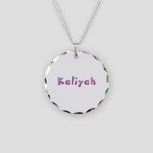 Kaliyah Pink Giraffe Necklace Circle Charm